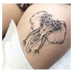 Elephant tattoos ❤ liked on Polyvore featuring accessories and body art