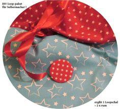 Stoffpaket♥Loop♥ DIY Sterne türkis/rot+ Button &  von ஐღKreawusel-aufgehübscht✂ஐ  auf DaWanda.com