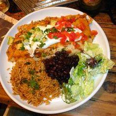 Vegetarian Black Bean Enchiladas Allrecipes.com