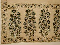 Sash (Patka) - Late 17th century - India - Cotton, silk; plain weave, embroidered
