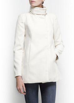 MANGO - Straight-cut short coat