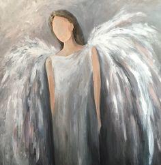 Acrylic Painting Canvas, Watercolor Paintings, Original Paintings, Paintings Of Angels, Horse Paintings, Dark Wood Background, Angel Artwork, Angel Wings Painting, Angel Pictures
