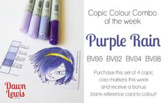 Copic Colour Combo of the week Purple Rain