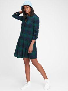 Gap Plaid Shirtdress Next Fashion, Holiday Fashion, Holiday Style, Nice Dresses, Dresses For Work, Plaid Outfits, House Dress, Preppy Style, Preppy Fashion