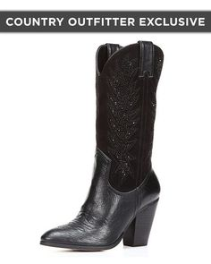 Miranda Lambert Women's Cowboy Bling Boot, Black