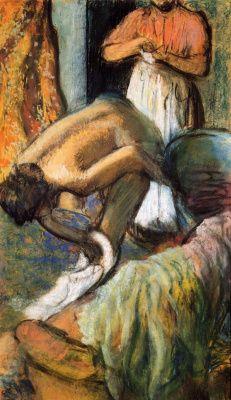 Edgar Degas | Desayuno después del baño.  Una taza de café