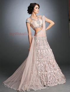 Lovely, Intricate #Desi #Blouse, via  http://KamaaliCouture.com/ Indian Bridal Wear, worldwide   http://instagram.com/kamaalicouture & MyShaadi.in
