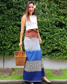 Thai Dress, Women's Fashion, Fashion Outfits, Lace Skirt, Oriental, Textiles, Traditional, Blouse, Skirts