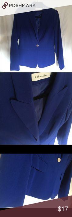 Calvin Klein Women's Blazer Royal Blue Calvin Klein royal blue blouse women's size 4 great condition Calvin Klein Jackets & Coats Blazers