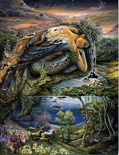 Artes do A'Uwe: Obras de Josephine Wall Josephine Wall, Fantasy Paintings, Fantasy Artwork, Art Visionnaire, Art Et Nature, Illusion Art, Visionary Art, Fantasy Landscape, Fairy Art