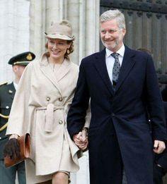 Queen Mathilde and King Philippe of Belgium.