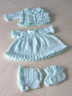 Different-Baby-In-Org Beispiele Sind, - Diy Crafts - hadido Knitted Doll Patterns, Newborn Crochet Patterns, Baby Cardigan Knitting Pattern, Doll Clothes Patterns, Baby Patterns, Knitting Patterns Free, Clothing Patterns, Crochet Baby, Baby Girl Hats