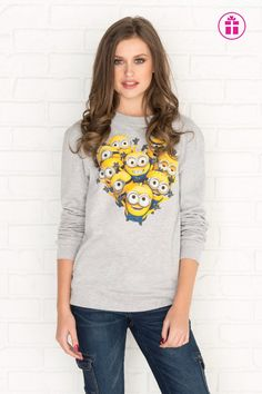 Get the latest trends in women's clothing at Ardene. Shop fashion tops, bottoms, dresses, and more in a variety of styles, fabrics and prints for all seasons. Minion Outfit, Minion Clothes, Cute Minions, Minion Stuff, Terrible Twos, T Shirt, Graphic Sweatshirt, Girl Outfits, Fashion Outfits