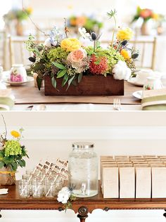 The florals are so pretty in this vintage baby shower!