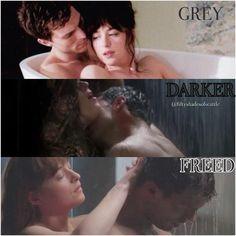 Fifty Shades Grey, Darker, Freed