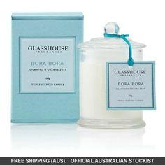 Glasshouse Bora Bora Mini Candle - Cilantro #adorebeautydreamhaul Orange Zest, Orange Blossom, Mini Candles, Glass House, Body Inspiration, Bora Bora, Rose Buds, Cilantro, Bath And Body
