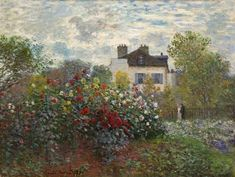 The Artist's Garden in Argenteuil by Claude Monet #OilPaintingClassic