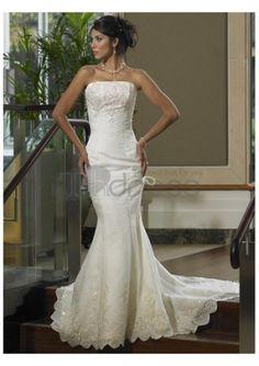 Economici vendita calda abiti casual da sposa senza spalline
