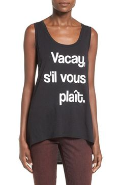Ten Sixty Sherman 'Vacay' Graphic High/Low Tank available at #Nordstrom