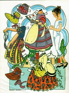 Janet Laura by Larry Bassin Auf inkspiredmusings.blogspot.fr  http://www.pinterest.com/ejswaim/paper-dolls/
