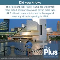 An incredible stat from #ThePlus region's own Rock and Roll Hall of Fame + Museum! Check out what exhibits might interest you at the Rock Hall here: http://www.rockhall.com/!