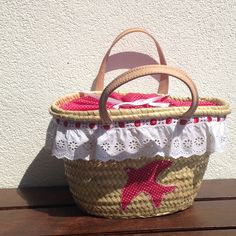 Another customized beach straw bag  flying away from here !
