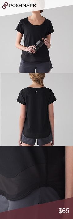 NWT Lululemon Smooth Stride Short Sleeve 2 Black This tee is NWT! Perfect condition, black with UV protection! It has a silky feel with sheer hem and is perfect to dress up or down, at the gym or even out! Retailed for $68! See the last photo for the item description from lululemon. I am a lulu addict trying to clear some closet space, please check my other listings for more lulu in sizes 2 and 4, I love to bundle! Feel free to ask any questions you have, bundle for an automatic discount…