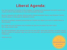 Everything You Need to Know about the Liberal Agenda http://ow.ly/xWwp301JMHf