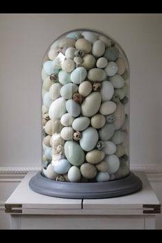 Dit vind ik nou gaaf voor Pasen! Stolp gevuld met eitjes
