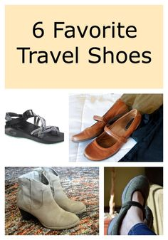 6 Types of Great Travel Shoes >>> This is an issue I have every time I travel. Here is a great list of pros and cons. What do you bring for shoes when you travel? I now bring a pair of Tieks, a pair of flip flops and sneakers.