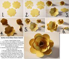 Scallop Circle Maker Flower Tutorial