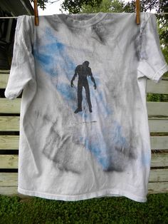The Walking Dead Zombies  Painted  Upcycled  T by KillWalmart, $15.00