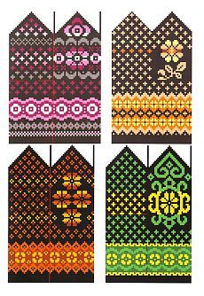 Crochet Mittens Free Pattern, Knit Mittens, Knitted Gloves, Knitting Socks, Knitting Charts, Knitting Stitches, Knitting Patterns, Wrist Warmers, Hand Warmers