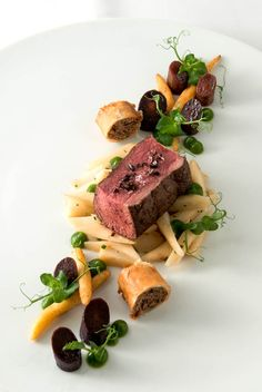 deer | parsley root | purple carrot | cocoa jus  [ www.crimsongourment.com ]
