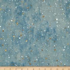 Kaufman Sound of the Woods Metallic Spatter Mist from @fabricdotcom  Designed by Kathrine Lovell for Wild Apple for Robert Kaufman, this cotton print fabric is perfect for quilting, apparel and home decor accents. Colors include white, shades of brown, and shades of blue with gold metallic accents.