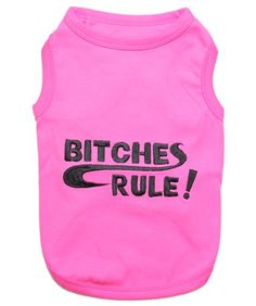 Pet Clothes BITCHES RULE Dog T-Shirt * Review more details here : Dog shirts
