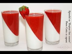 Strawberry Panna Cotta, No Bake Cake, Pint Glass, Pillar Candles, Macarons, Nutella, Cake Recipes, Food And Drink, Sweets