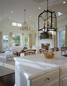 Hardwood, Cathedral/Arched, Traditional, Chandelier