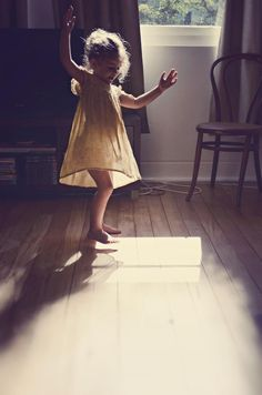 dancing in the sunlight.