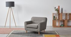 A London Living Room, Sofas, Lounge Furniture, Living Room Designs, Accent Chairs, Armchair, New Homes, Grey, House
