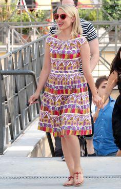 Q's Daydream: Loving Dianna Agron's Prada Dress