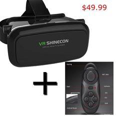 Universal 3D Virtual Reality VR SHINECON Game/Movie Cardboard Glasses+Gamepad B #VRshinecon