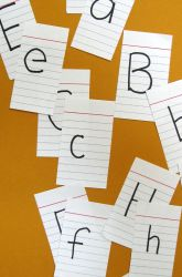Make and  Play an ABC Memory Game grreat for preschool and toddlers to learn upper and lower case letters