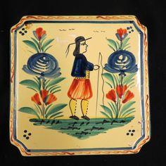 Quimper French Pottery Trivet or Tile,