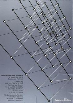 1995: Range and Diversity - A Year in the Life of Foster and partners - Ausstellung - Büro Design Center Nänikon-Plakat