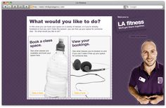Online class bookings app created for LA fitness
