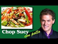 CHOP SUEY DE POLLO / Cocinando Salud con Gerónimo - YouTube Col China, Pollo Guisado, China Food, Geronimo, Asparagus, Green Beans, Chicken Recipes, Chips, Food And Drink