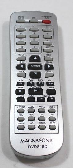 Magnasonic Remote Control Model DVD816C