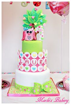 First Birthday Cakes - Owl Birthday Cake for my little girl :)