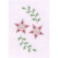 Form-A-Lines Stitching Cards Free Two Flowers Pattern